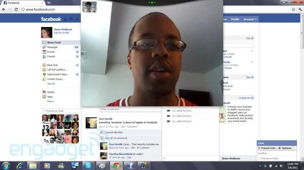 Videollamada en Facebook