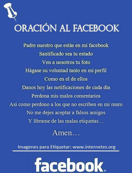 Oración de Facebook