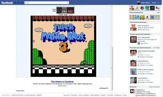 Mario Bros 3 Facebook