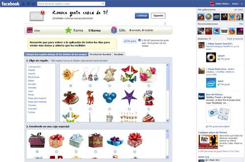 Arbol de navidad Facebook