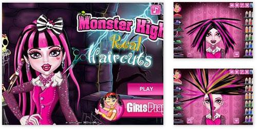 Juegos de cortar pelo monster high